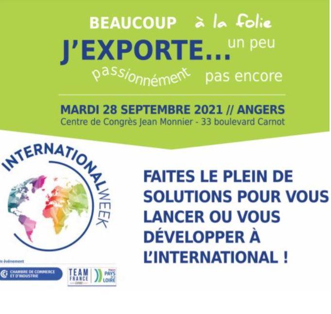 International Week Angers le 28 septembre : développez-vous à l'export grâce à la communication digitale