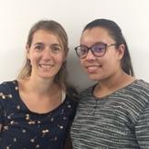 Caroline Laforgue, Responsable Ressources Humaines et Samia Tagant,  Apprentie en Ressources Humaines de l'entreprise ACER